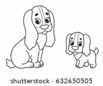Nice Cartoon Mother Dog With...