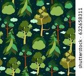 earth day. seamless pattern... | Shutterstock . vector #632658311