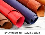 brightly colored leather in... | Shutterstock . vector #632661035
