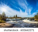 weak northern autumn sun. foam... | Shutterstock . vector #632662271