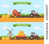 agriculture and farming.... | Shutterstock .eps vector #632664437
