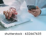 big data analytics with... | Shutterstock . vector #632667635