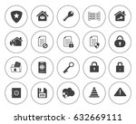 security icons | Shutterstock .eps vector #632669111