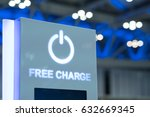 free charging station in modern ... | Shutterstock . vector #632669345