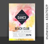 colorful flyer  template or...   Shutterstock .eps vector #632670329