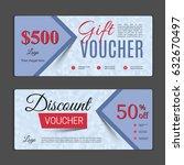 gift voucher template. can be...   Shutterstock .eps vector #632670497
