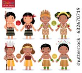 kids in different traditional...