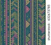 vector seamless pattern in... | Shutterstock .eps vector #632673785