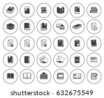 book icons   Shutterstock .eps vector #632675549