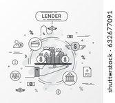 lender info graphics design... | Shutterstock .eps vector #632677091