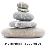 balancing stones isolated on...   Shutterstock . vector #632678501