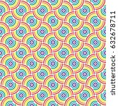 colorful seamless pattern with... | Shutterstock .eps vector #632678711
