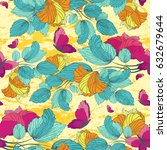 seamless pattern with flowers ... | Shutterstock .eps vector #632679644