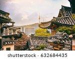 bukchon hanok historic district ... | Shutterstock . vector #632684435