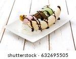 Banana Split Ice Cream Dessert...