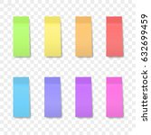 isolated sticky note on... | Shutterstock .eps vector #632699459