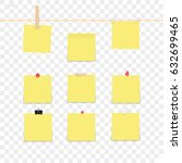 isolated sticky note on... | Shutterstock .eps vector #632699465