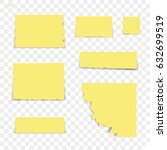 isolated sticky note on... | Shutterstock .eps vector #632699519