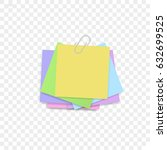 isolated sticky note on... | Shutterstock .eps vector #632699525