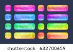 set of bright glossy buttons... | Shutterstock .eps vector #632700659