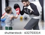 young boy boxer practicing... | Shutterstock . vector #632703314