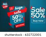 huge sale discount coupons... | Shutterstock .eps vector #632722001
