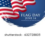 flag day in the united states ... | Shutterstock .eps vector #632728835