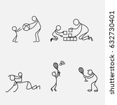 cartoon icon sport of sketch... | Shutterstock .eps vector #632730401