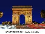 arc de triomphe  paris france | Shutterstock . vector #63273187