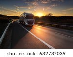 truck transportation at sunset | Shutterstock . vector #632732039