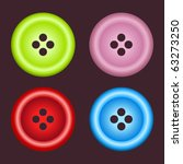 Set Of Four Sewing Color Buttons