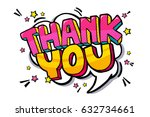 thank you word bubble. message... | Shutterstock .eps vector #632734661