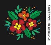 vintage flower composition...   Shutterstock .eps vector #632735099