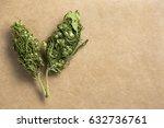 two dry industrial hemp plant... | Shutterstock . vector #632736761