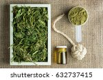 industrial hemp plant products  ... | Shutterstock . vector #632737415