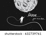 astronaut flying very close... | Shutterstock .eps vector #632739761