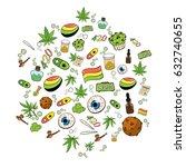 medicinal cannabis recreational ...   Shutterstock .eps vector #632740655