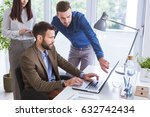 businesspeople working together ... | Shutterstock . vector #632742434