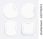 vector set of blank white... | Shutterstock .eps vector #632746511