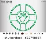 lifebuoy  icon  vector... | Shutterstock .eps vector #632748584