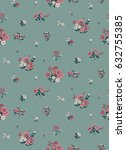 seamless ditsy floral pattern... | Shutterstock .eps vector #632755385