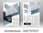 vector flyer template design.... | Shutterstock .eps vector #632757017