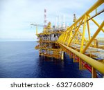 offshore construction platform... | Shutterstock . vector #632760809