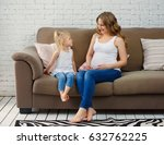 young pregnant mother and... | Shutterstock . vector #632762225