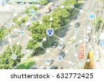 technology and communication... | Shutterstock . vector #632772425
