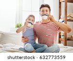 happy father's day  dad and his ... | Shutterstock . vector #632773559
