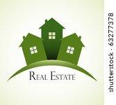 green real estate concept... | Shutterstock .eps vector #63277378