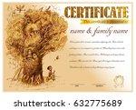diploma  certificate design... | Shutterstock .eps vector #632775689