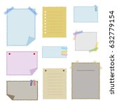 collection of colorful note... | Shutterstock .eps vector #632779154