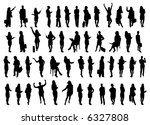 50 vector silhouettes of... | Shutterstock .eps vector #6327808